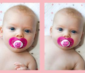 Best Friends - Hand painted Pacifier Set size 6+ MAM PInk